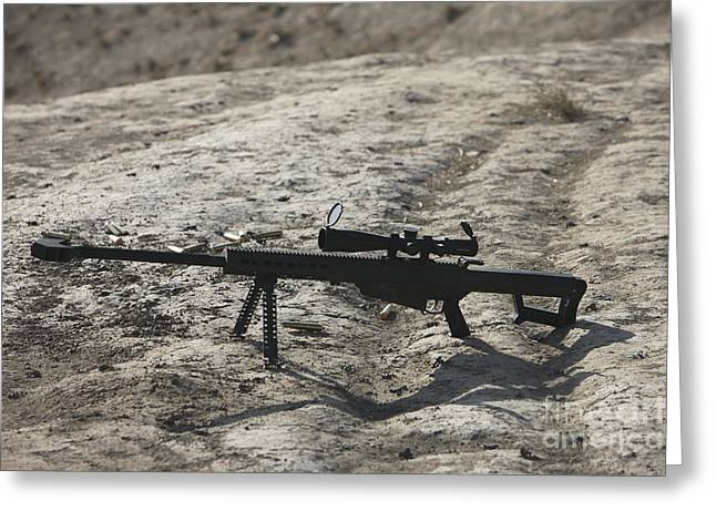 The Barrett M82a1 Sniper Rifle Greeting Card