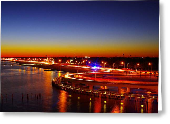 Greeting Card featuring the photograph The Beauty Of The Night by Brian Wright