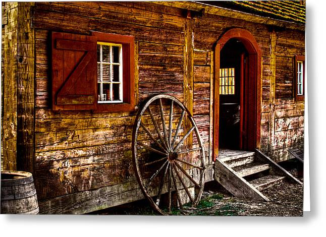 The Blacksmith Shop Greeting Card by David Patterson