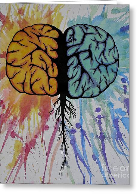 The Brain Greeting Card by Holly Hunt