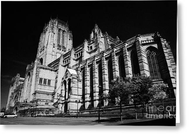 the Cathedral Church of Christ Liverpool Anglican Cathedral Merseyside England UK Greeting Card by Joe Fox