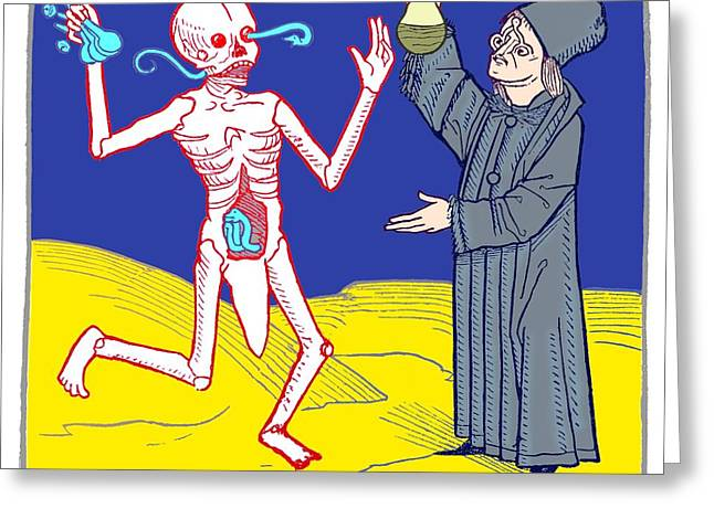 The Dance Of Death, Allegorical Artwork Greeting Card