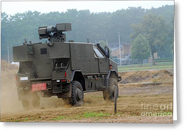 The Dingo 2 In Use By The Belgian Army Greeting Card by Luc De Jaeger