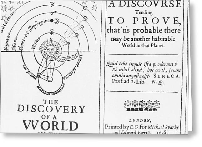 The Discovery Of A World In The Moone Greeting Card by Science Source