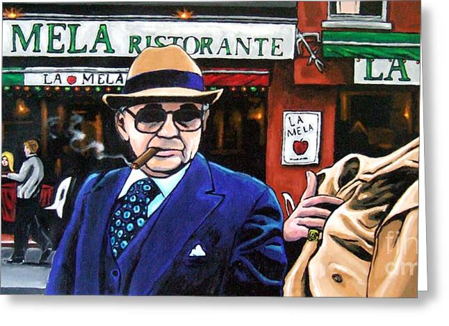 Goodfellas Greeting Cards - The Don has Arrived Greeting Card by D Rt