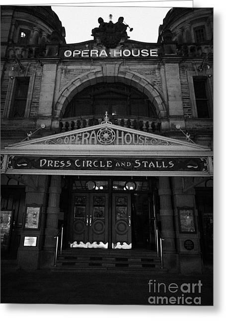 the edwardian buxton opera house Buxton Derbyshire England UK Greeting Card