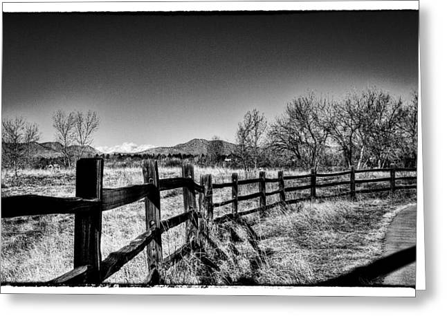 The Fence Line At South Platte Park Greeting Card