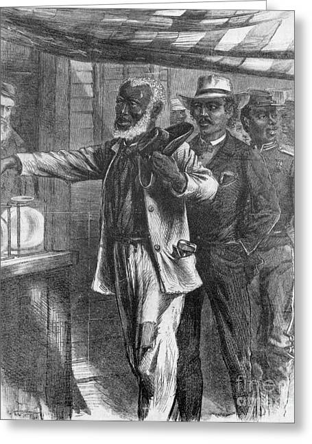 The First Vote, 1867 Greeting Card by Photo Researchers