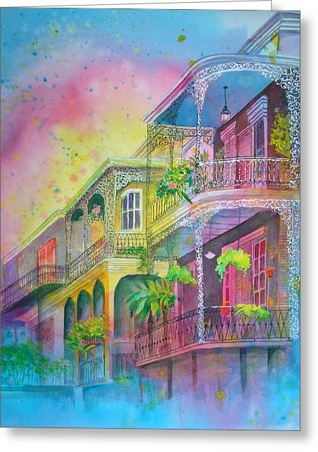 Greeting Card featuring the painting The Grace Of Lace by AnnE Dentler