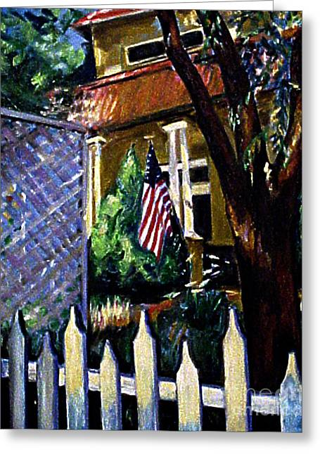 The Grant House Greeting Card by Karen Francis