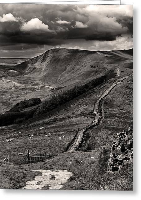 The Great Ridge To Mam Tor Greeting Card by Darren Burroughs