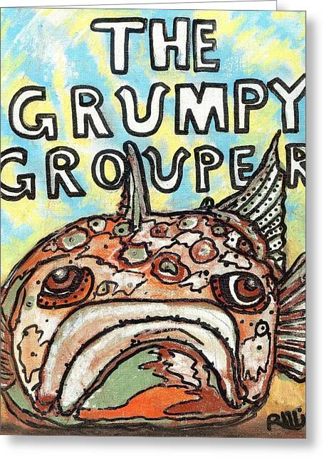 The Grumpy Grouper Greeting Card