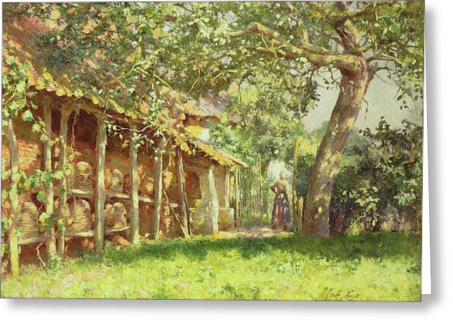 The Gypsy Camp Greeting Card by Harold Harvey