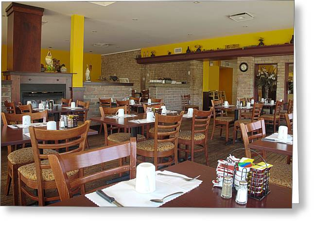 The Interior Of A Restaurant Greeting Card