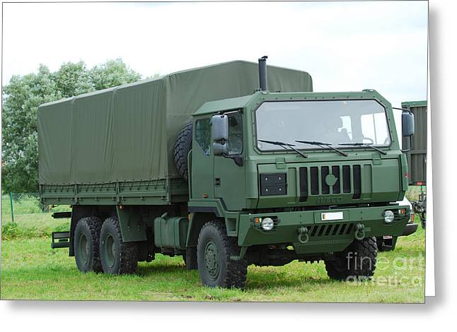 The Iveco M250 8 Ton Truck Greeting Card by Luc De Jaeger