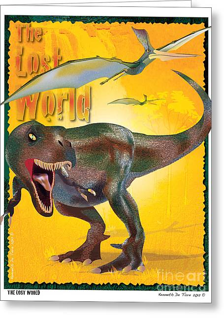 The Lost World Greeting Card by Kenneth De Tore