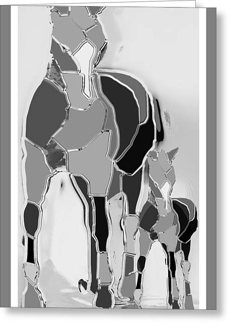 The Luck Horse And Foal Greeting Card by Betsy Knapp