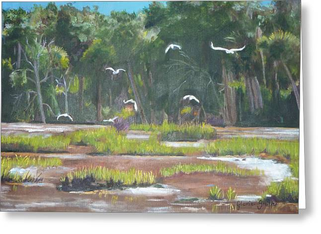 The Marshes Greeting Card by Gloria Smith
