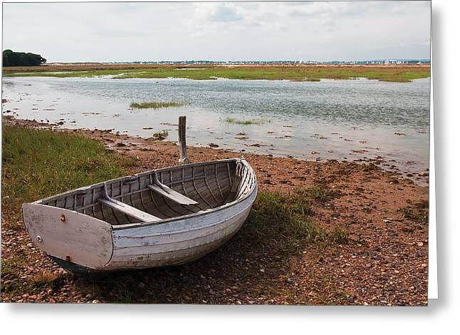 Greeting Card featuring the photograph The Old Boat by Shirley Mitchell