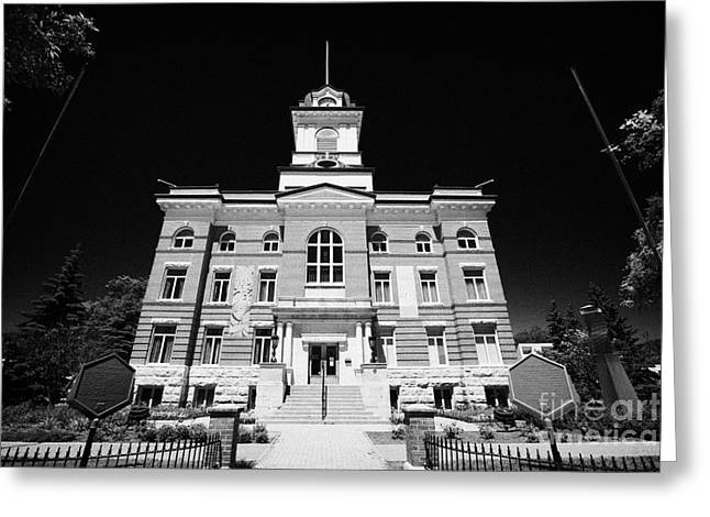 The Old Town Hall Hotel De Ville French Quarter Winnipeg Manitoba Canada Greeting Card by Joe Fox