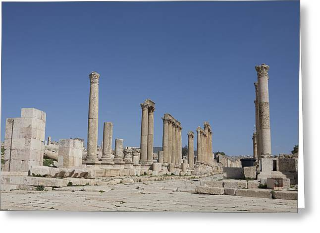 The Oval Plaza In The Ruins Greeting Card by Taylor S. Kennedy