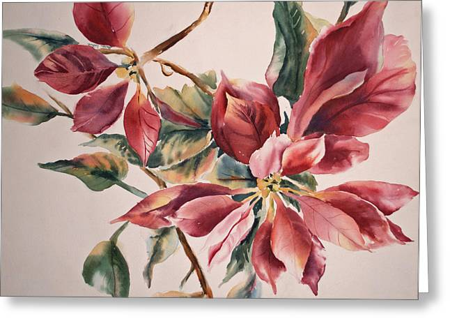 The Poinsettia Greeting Card by Sharon K Wilson