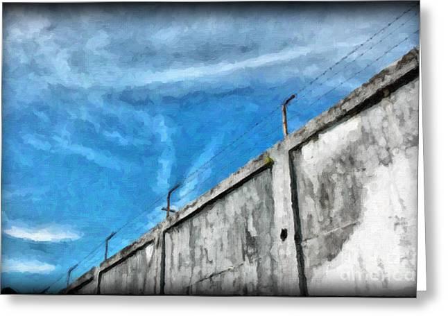 The Prison Walls Greeting Card by Antoni Halim