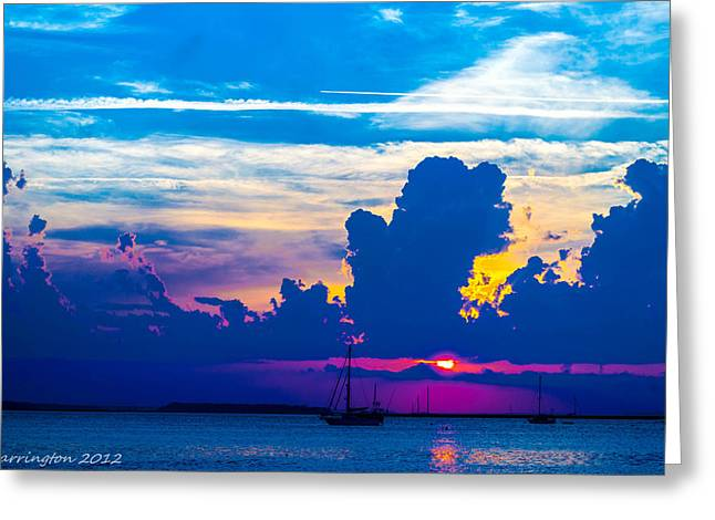 The Purple Sunset Greeting Card