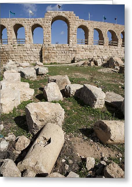 The Ruins Of The Ancient City Of Jerash Greeting Card by Taylor S. Kennedy