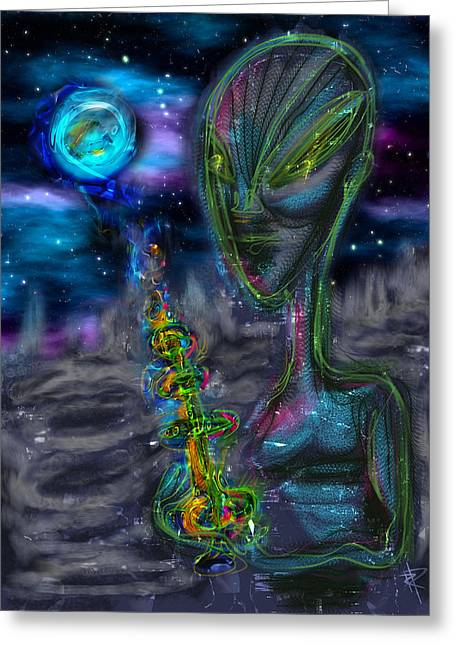 The Seeding Greeting Card by Russell Pierce