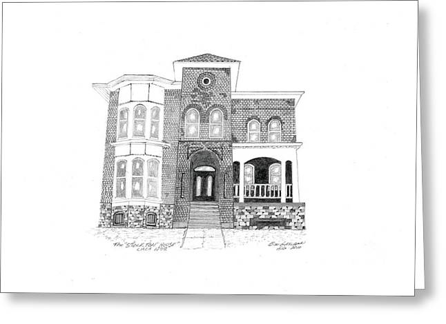 The Stockton House Greeting Card by Bob and Carol Garrison