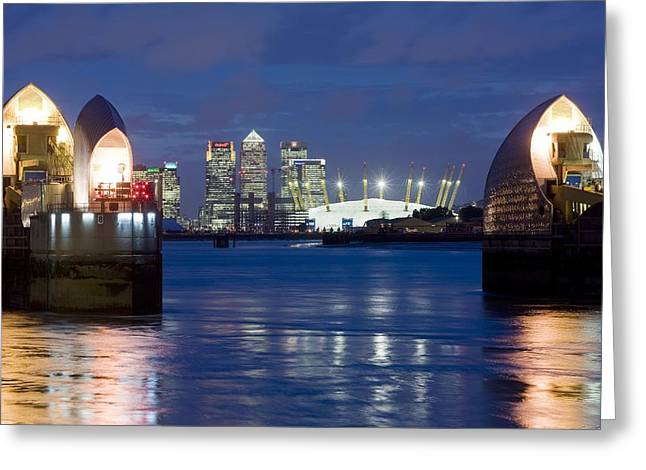 The Thames Flood Barrier Greeting Card by Jeremy Walker