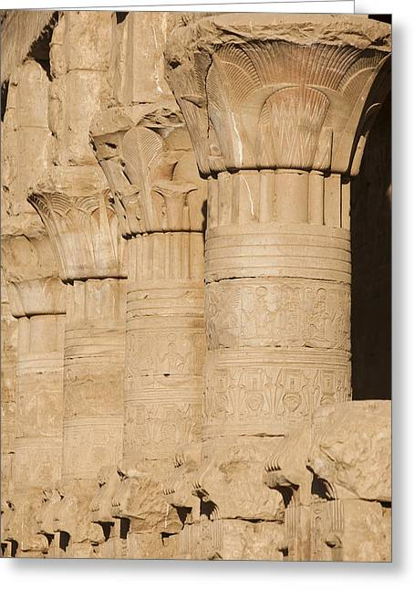 The Tops Of The Pillars Of The Temple Greeting Card by Taylor S. Kennedy