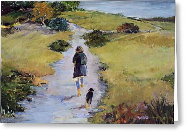 The Way Home Greeting Card by Diane Ursin