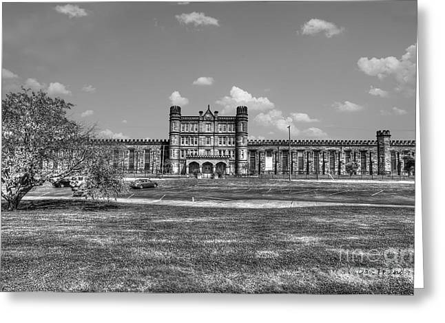 The West Virginia State Penitentiary Front Greeting Card by Dan Friend