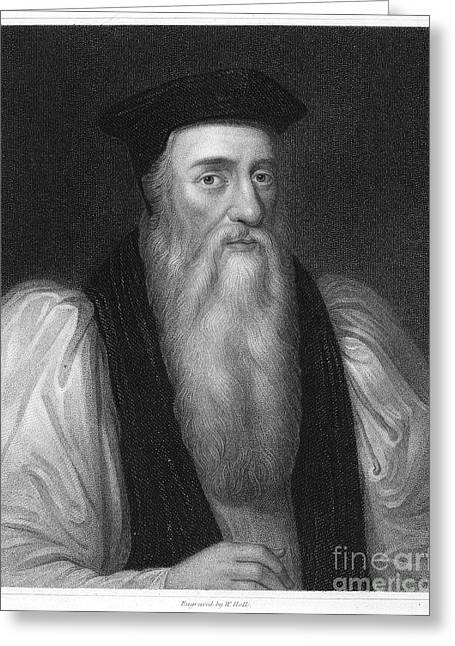 Thomas Cranmer (1489-1556) Greeting Card by Granger