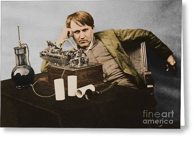 Thomas Edison, American Inventor Greeting Card by U.S. Department of the Interior
