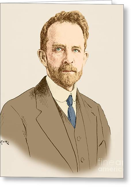 Thomas Hunt Morgan, American Geneticist Greeting Card by Science Source