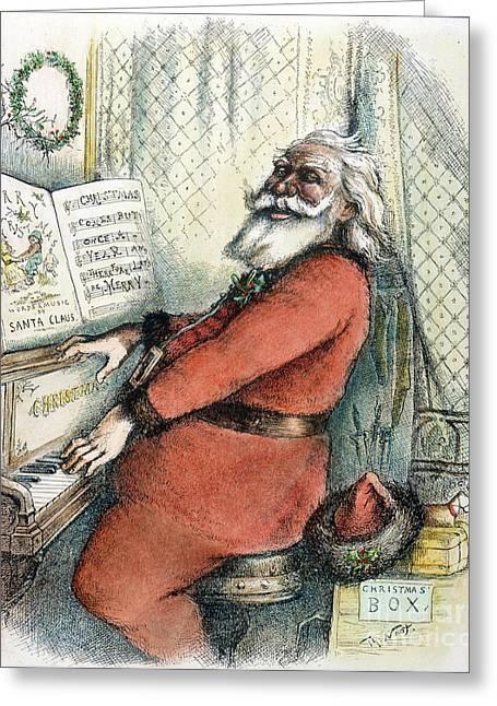 Thomas Nast: Santa Claus Greeting Card by Granger