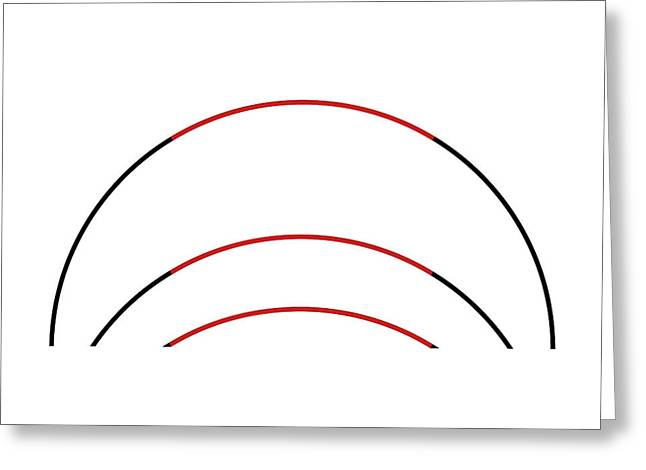 Three Arc Illusion Greeting Card by