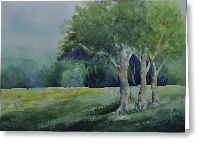 Three Sentinels Greeting Card by Sandy Fisher