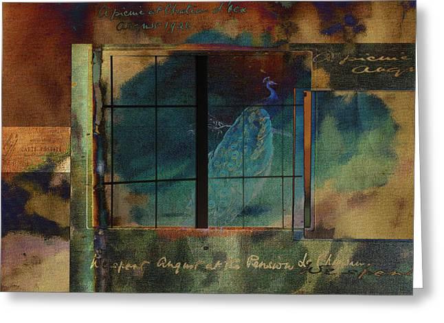Through A Glass Darkly Greeting Card by Sarah Vernon