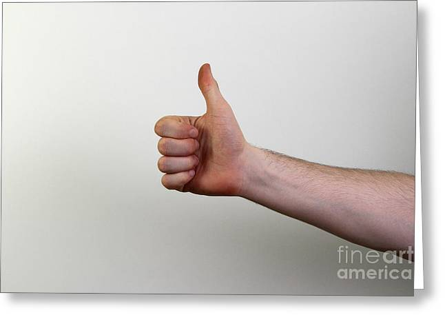 Thumbs Greeting Card by Photo Researchers, Inc.