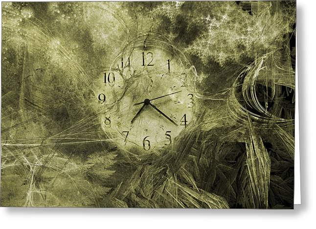 Time Piece II Greeting Card by Betsy Knapp