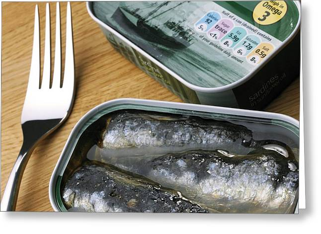 Tinned Sardines Greeting Card by Mark Sykes