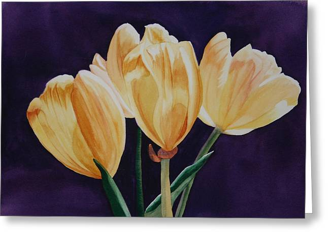 Greeting Card featuring the painting Tip Toe by Teresa Beyer