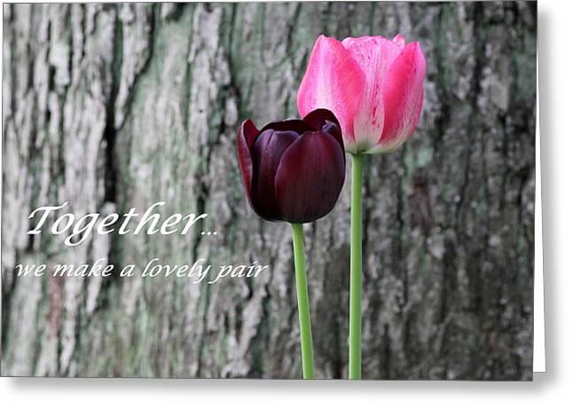 Together Greeting Card by Deborah  Crew-Johnson