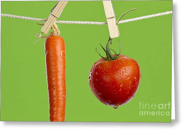 Tomato And Carrot Greeting Card by Blink Images