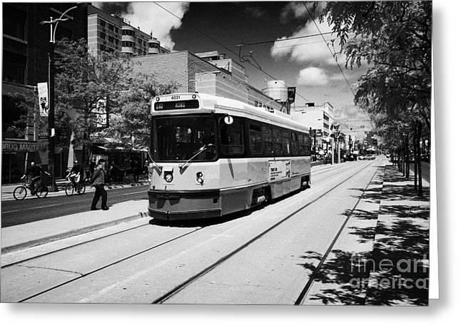 Toronto Transit System Ttc Tram Ontario Canada Greeting Card by Joe Fox