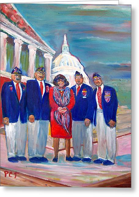 Tribute To Veterans Greeting Card by Patricia Taylor